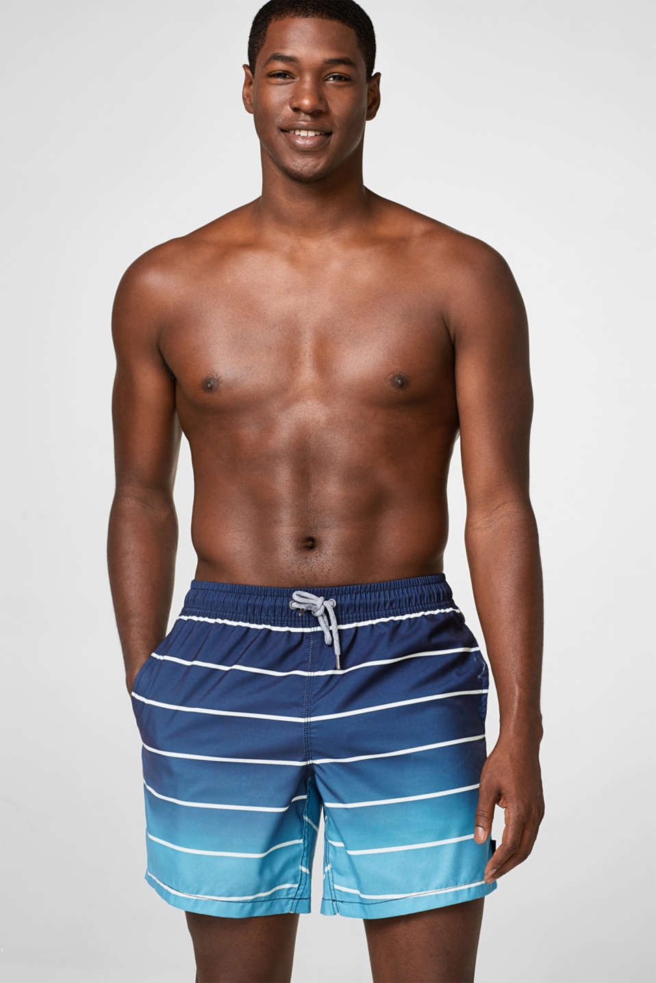 Esprit - Woven swim shorts with graduated colours