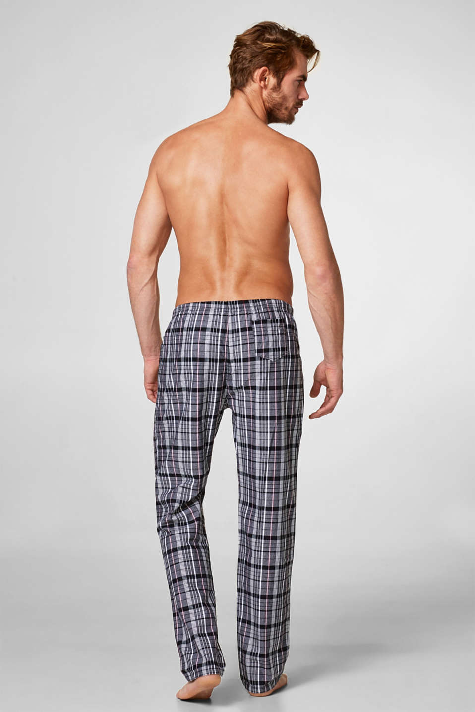 Woven check pyjama bottoms, 100% cotton