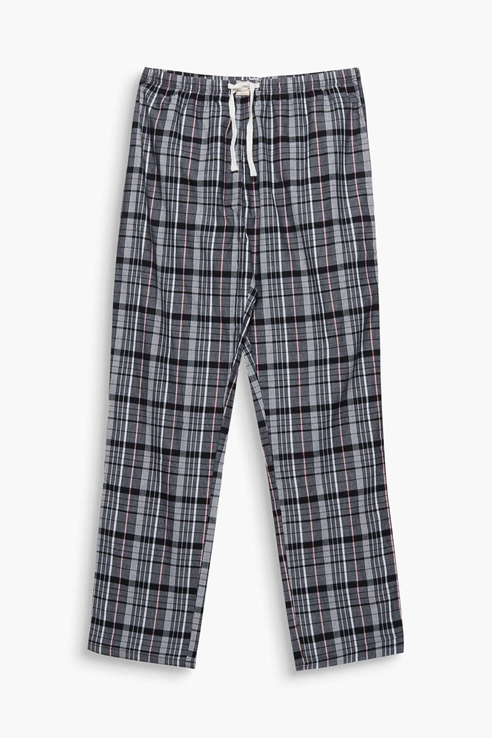 These pyjama bottoms are a classic piece with modern check and are super comfy thanks to the smooth cotton fabric and casual fit!