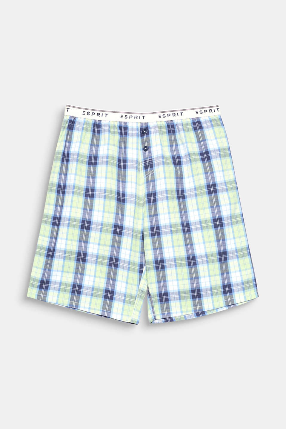Cool style for warm nights: you can't go wrong in these cotton shorts with a fashionable all-over check pattern!