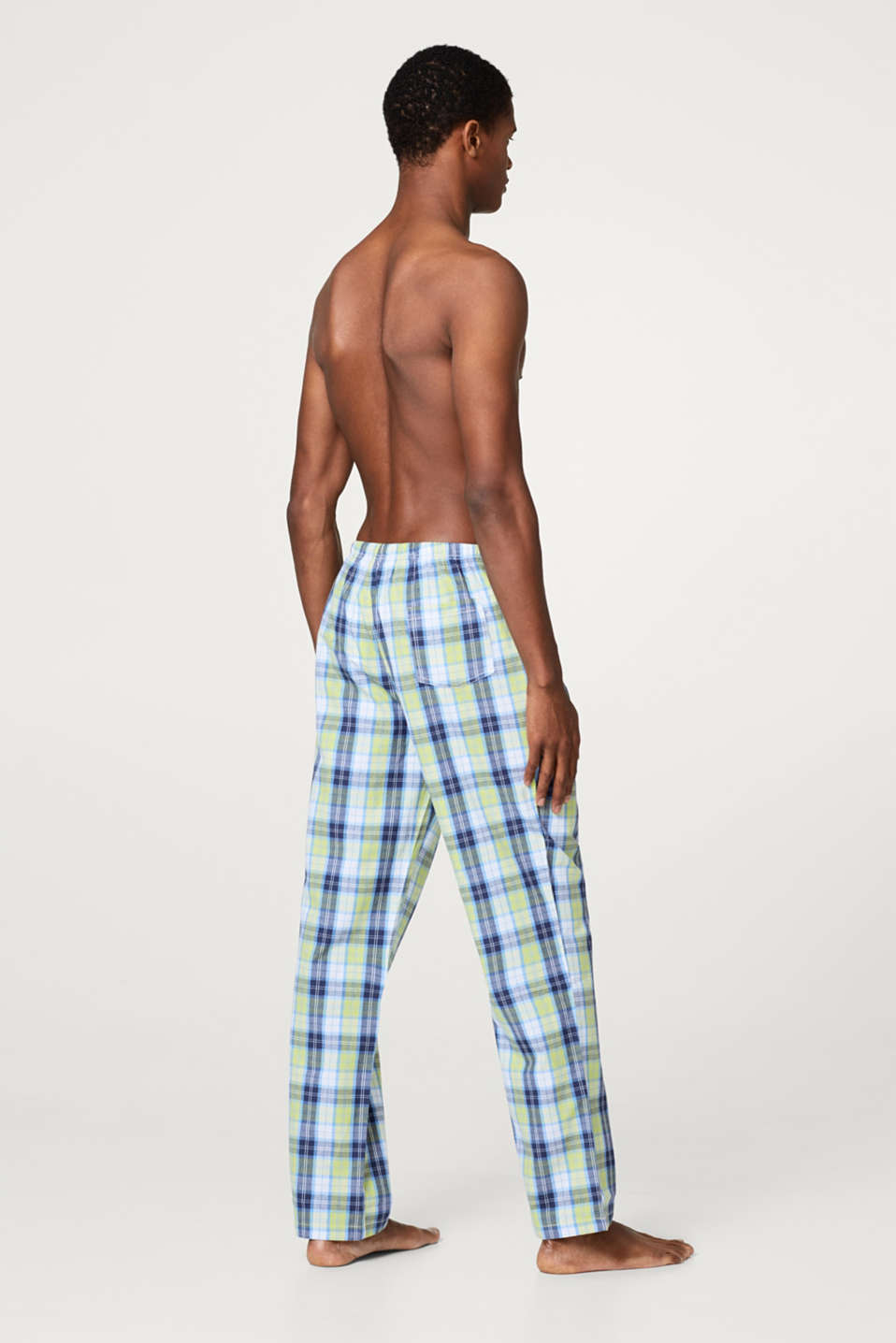 Pyjama bottoms with a check pattern, 100% cotton