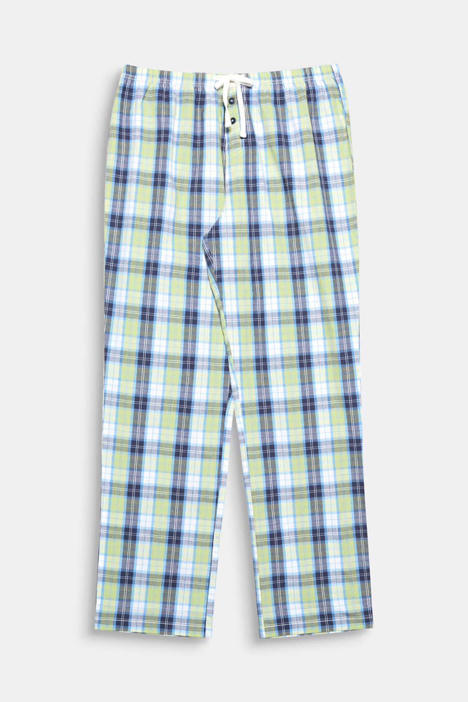 Lightweight cotton meets fresh, modern checks - a great mix for these cool and comfortable pyjamas bottoms!
