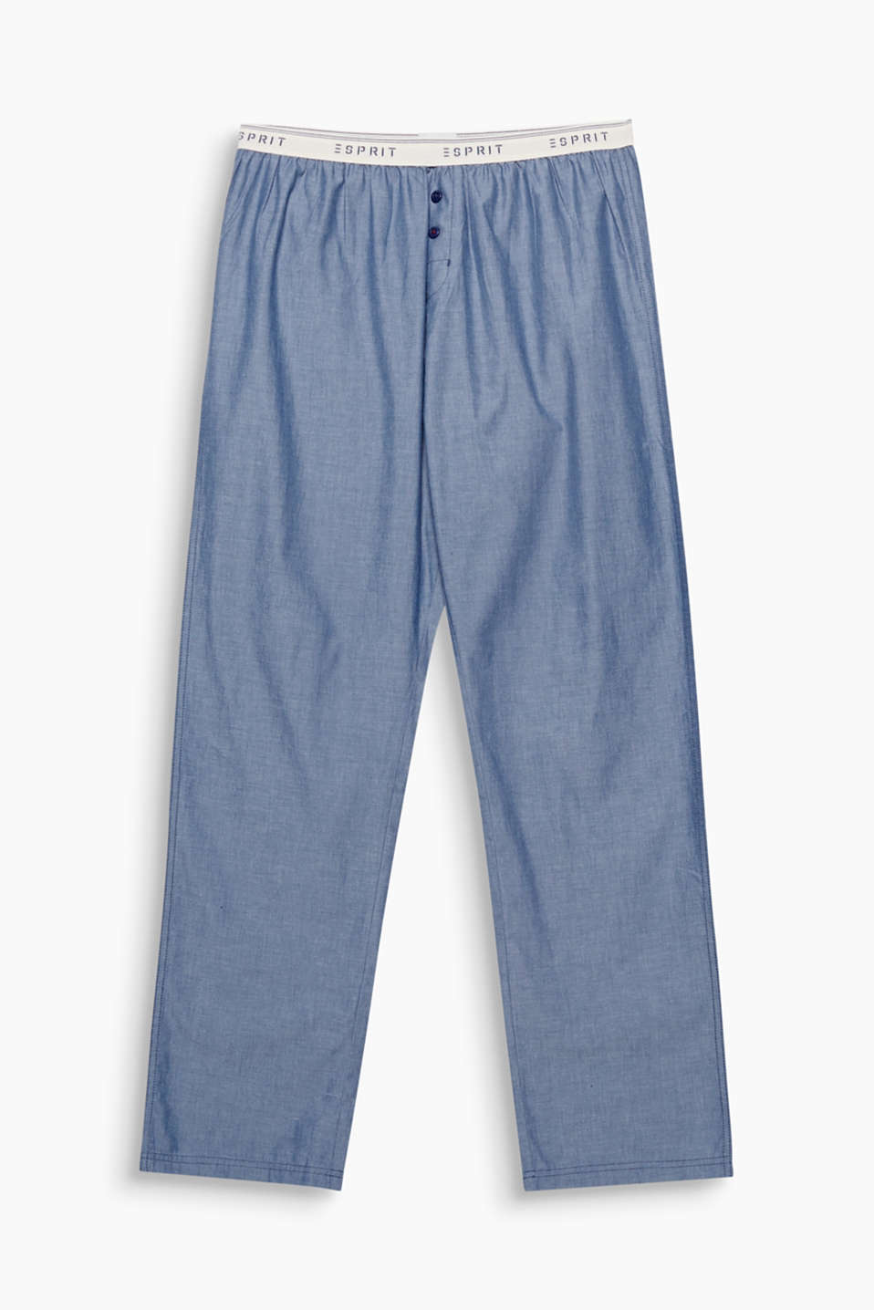 It doesn't always have to be a pattern: These pyjama bottoms look casual yet modern thanks to their chambray fabric!