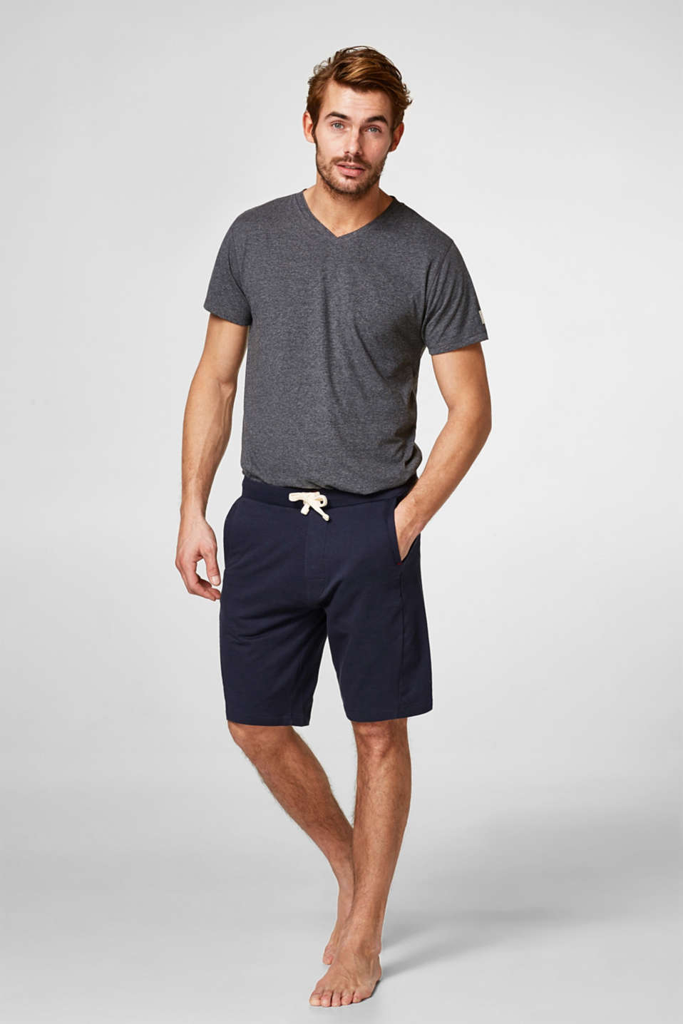 Esprit - Cotton Bermudas + elasticated waistband