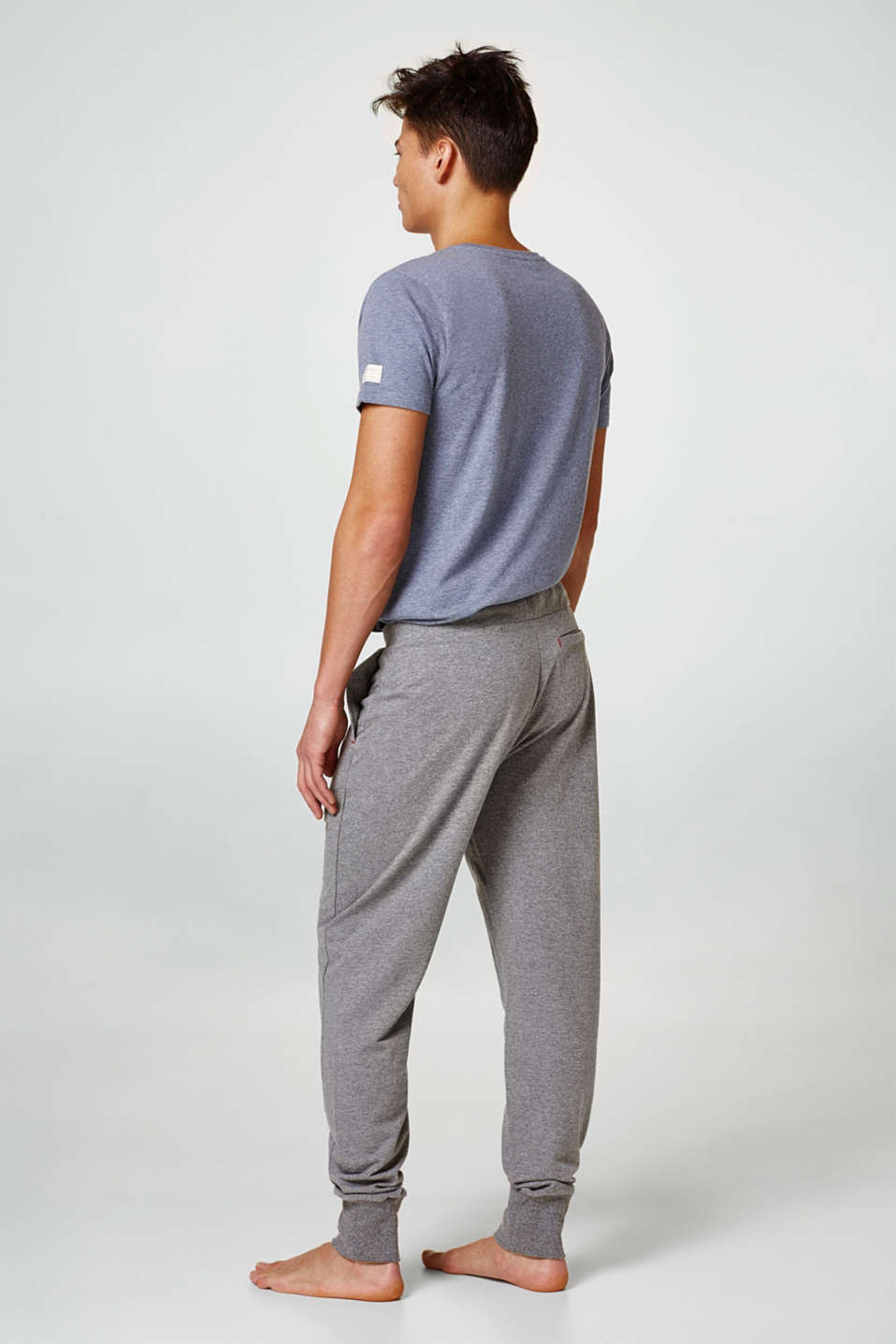 Dense jersey trousers, cotton blend