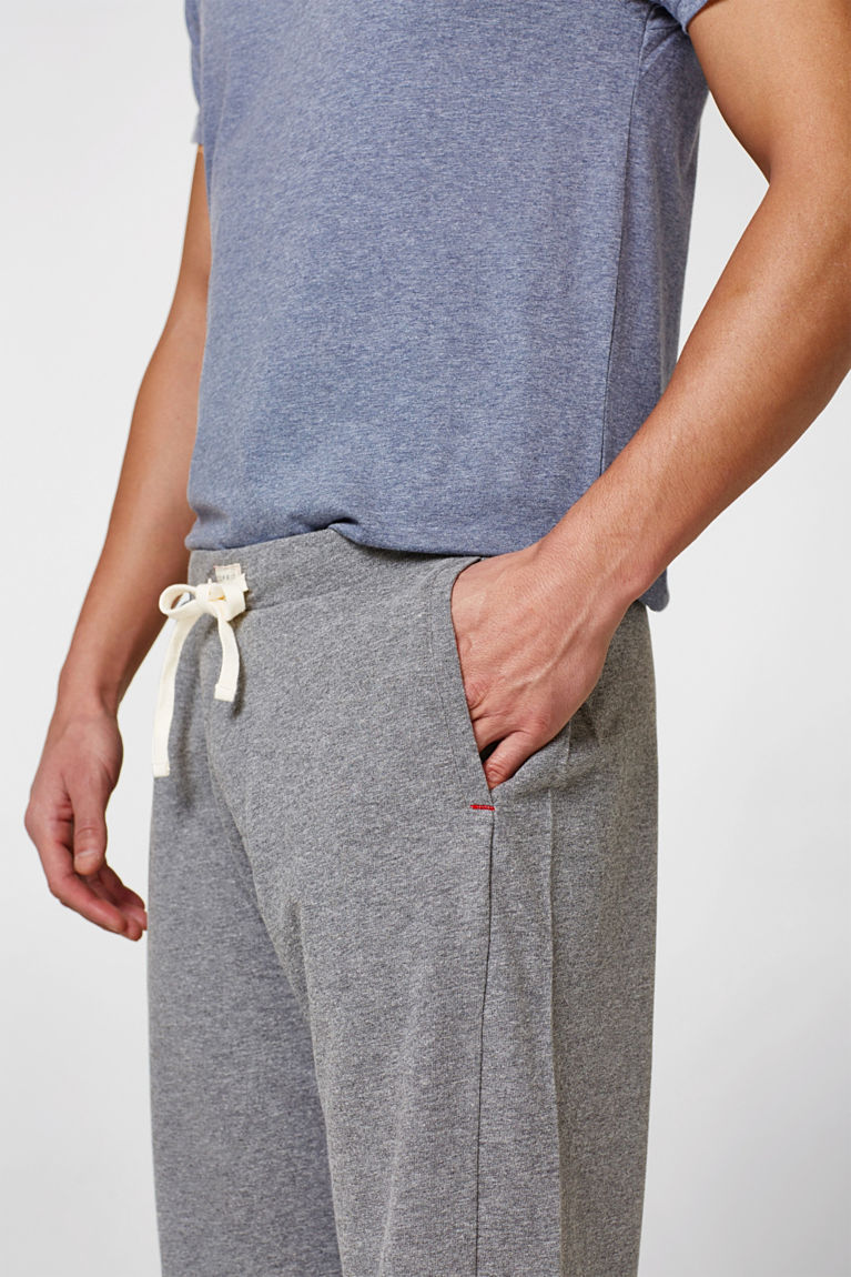 Pants aus dichtem Jersey, Baumwoll-Mix