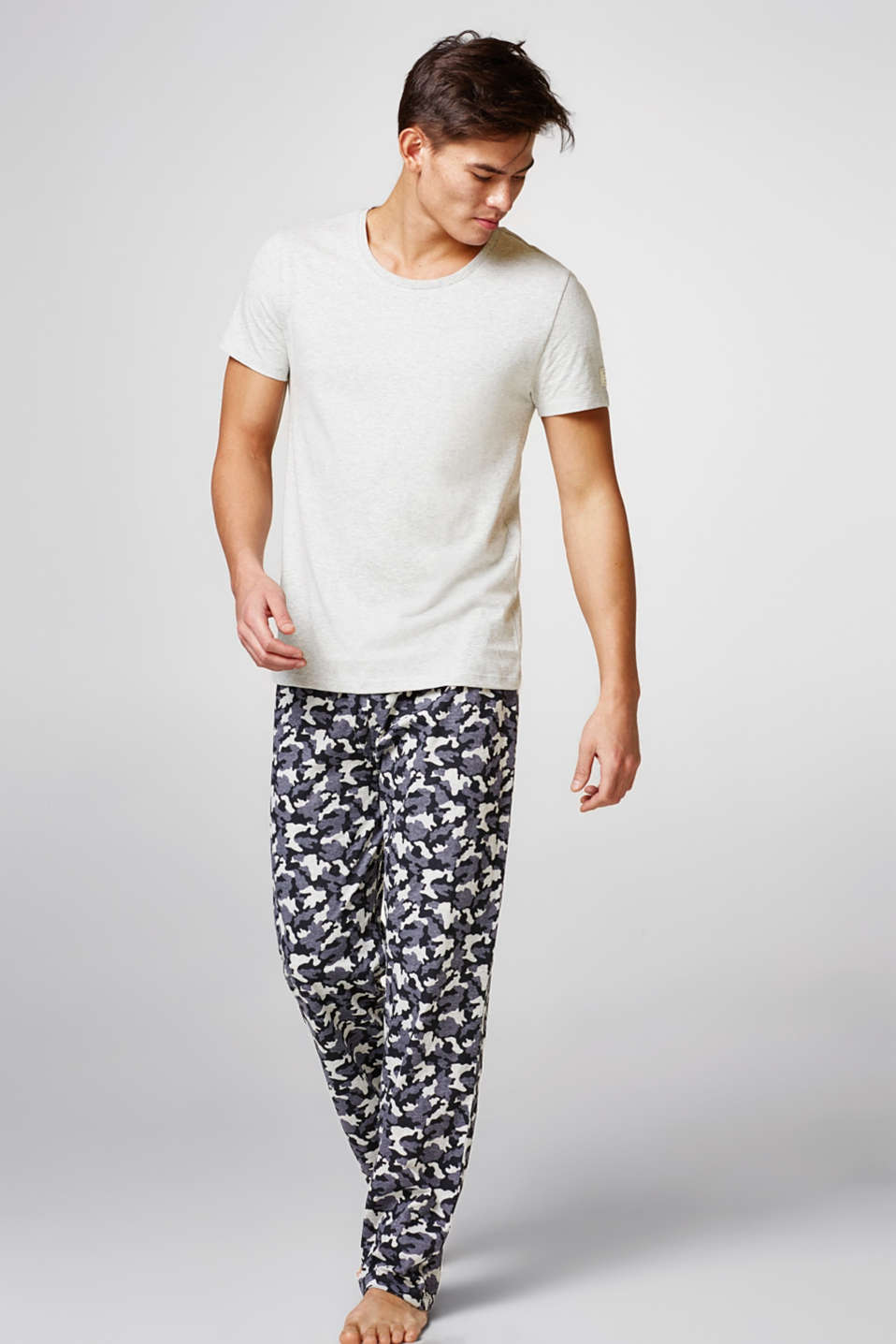 Esprit - Pyjamas with printed bottoms, blended cotton