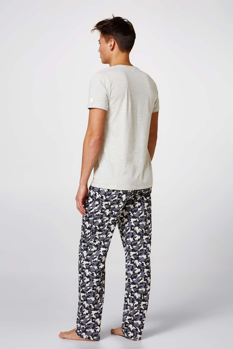 Pyjamas with printed bottoms, blended cotton