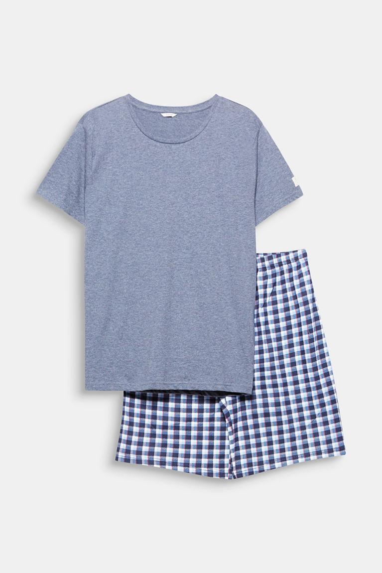 Jersey-Pyjama aus Baumwoll-Mix