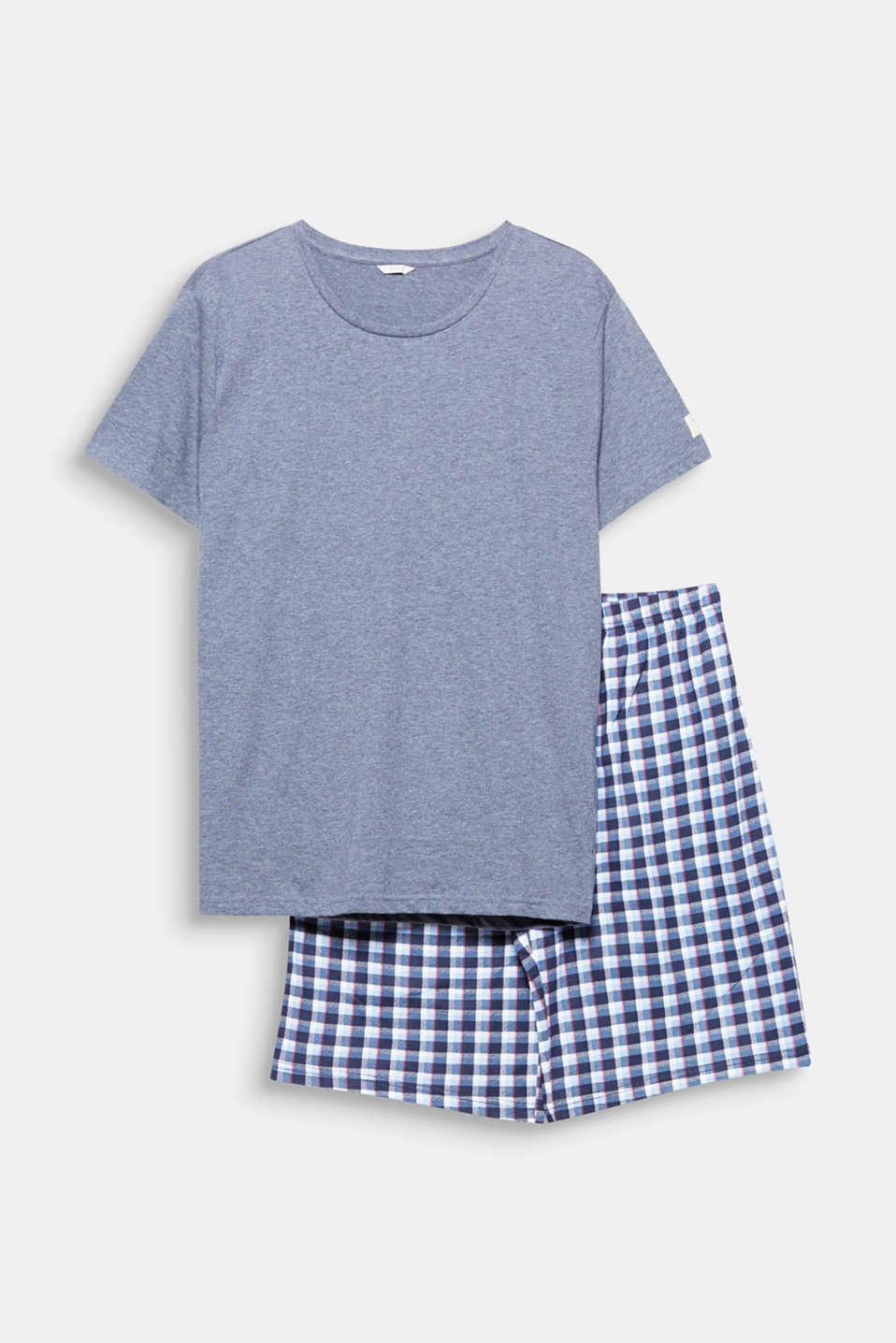 These comfy jersey pyjamas consisting of a melange T-shirt and checked shorts are sporty and timelessly modern!