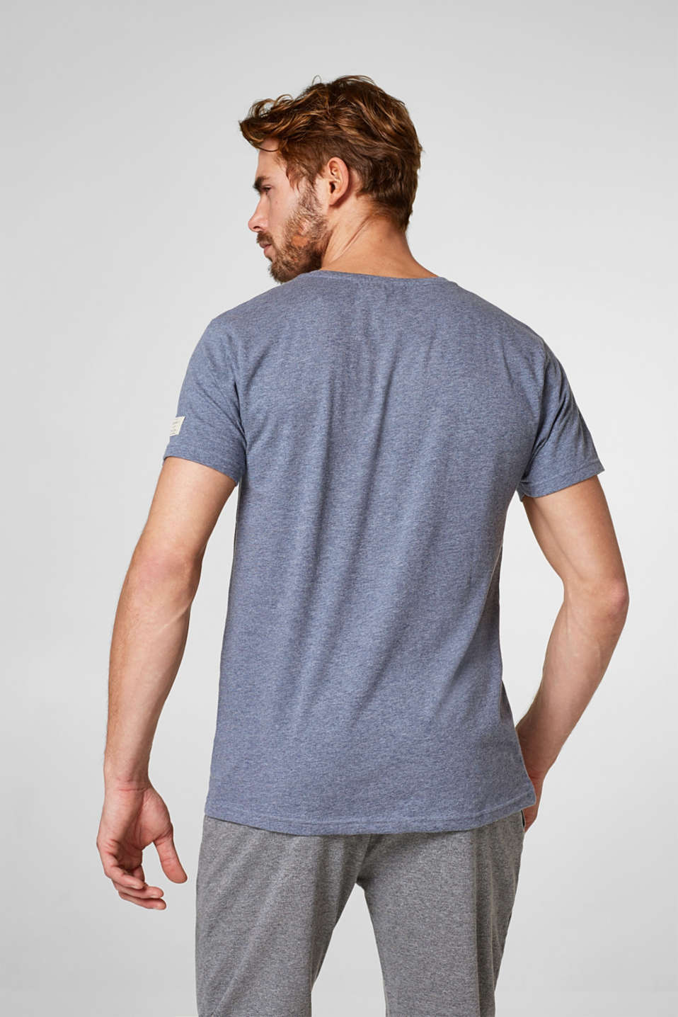 Gemêleerd basic T-shirt