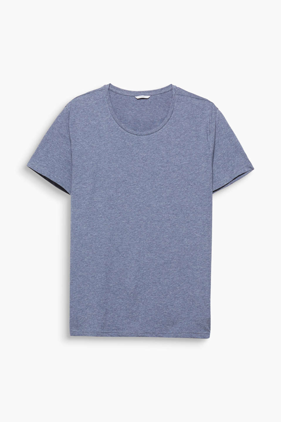 This melange T-shirt with a round neckline is a great basic that should be in every wardrobe.