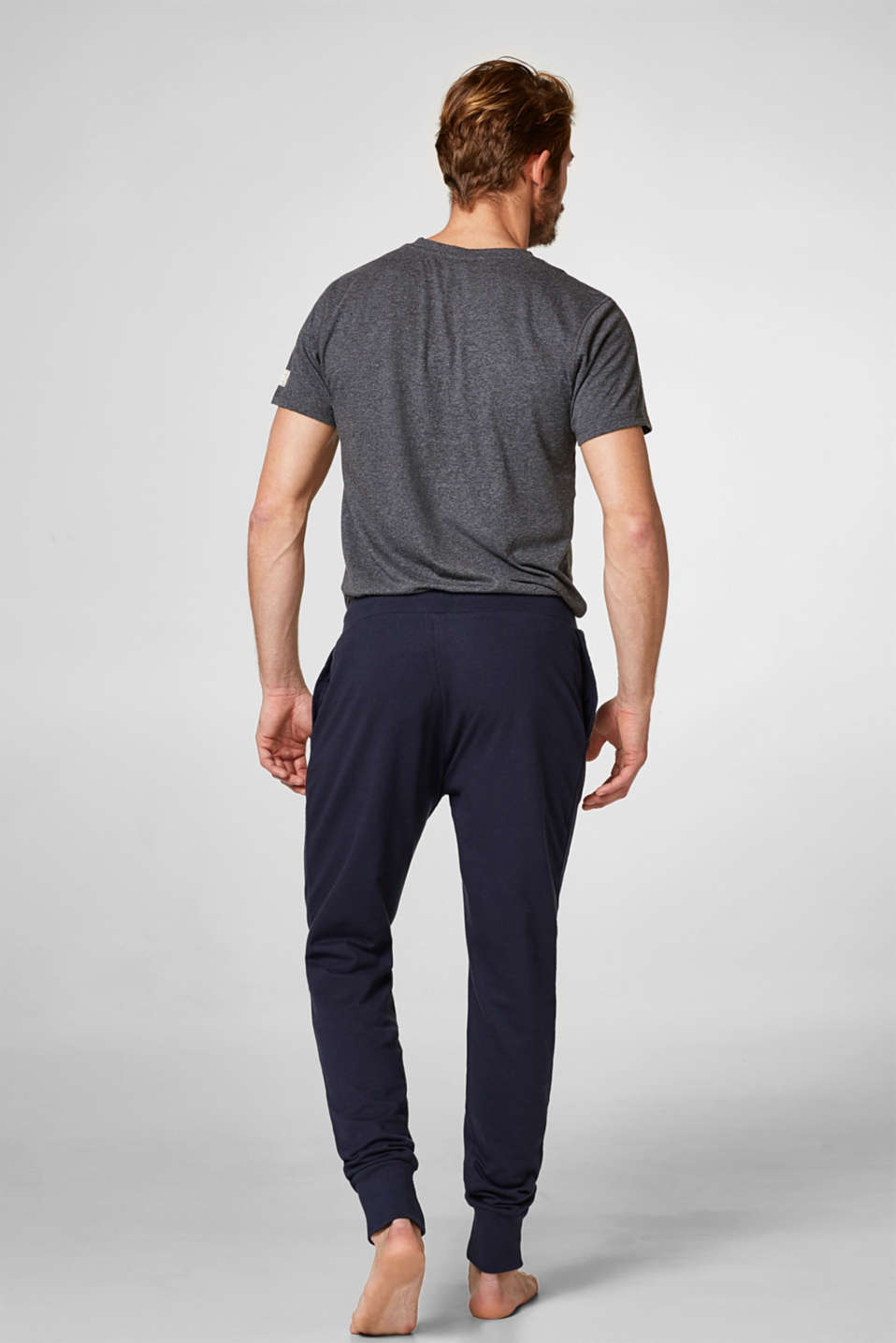 Casual jersey trousers with logo, 100% cotton