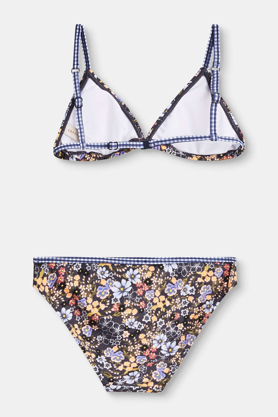 Triangle top bikini with a floral print