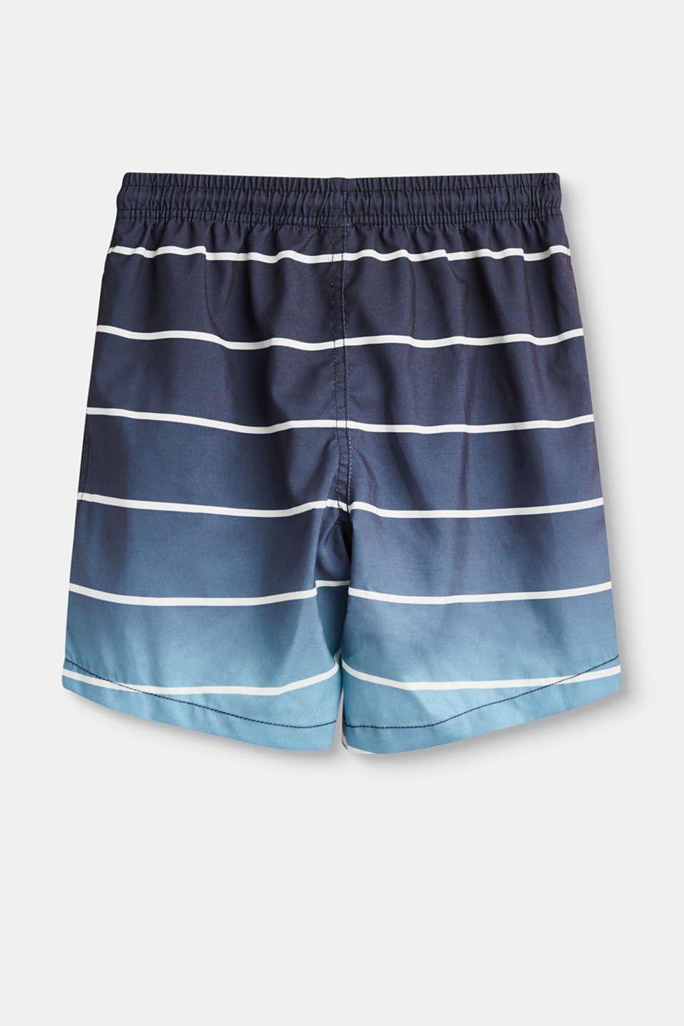 Bermuda swim shorts with stripes