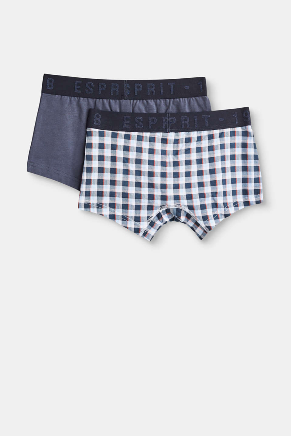 Shorts in a double pack, stretch cotton