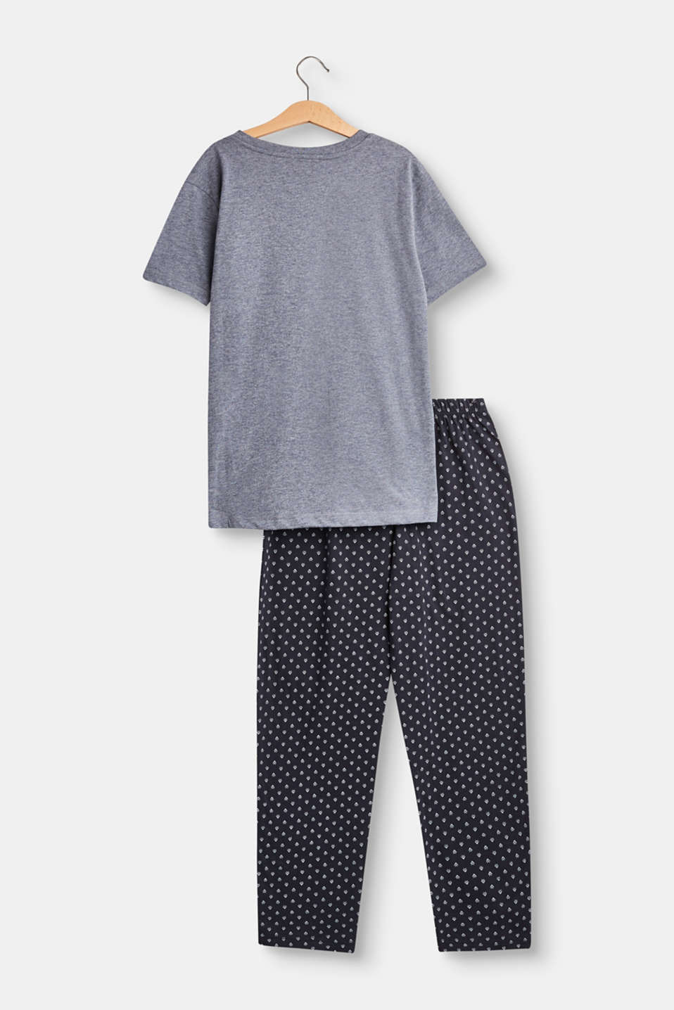 Soft jersey pyjamas with print bottoms