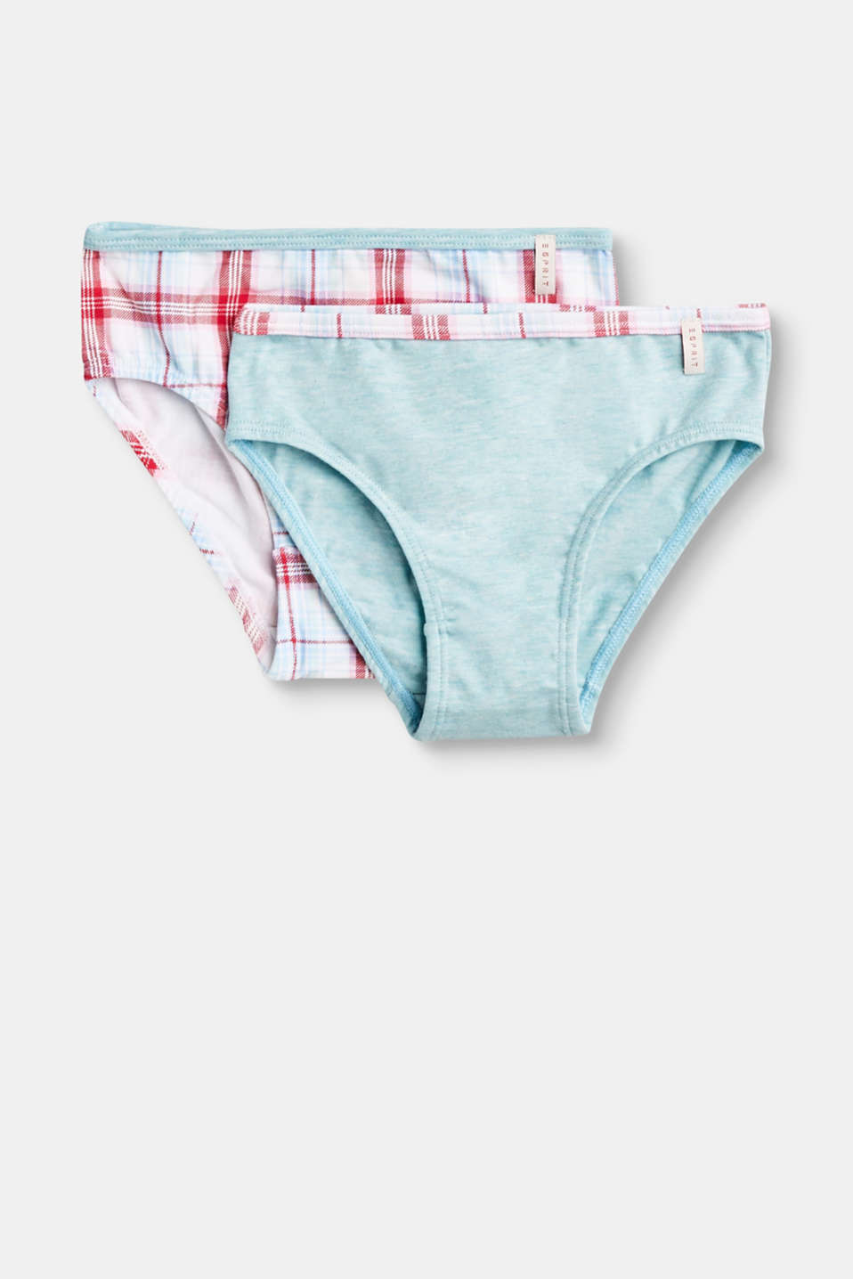 Esprit - Double pack of cotton hipster briefs