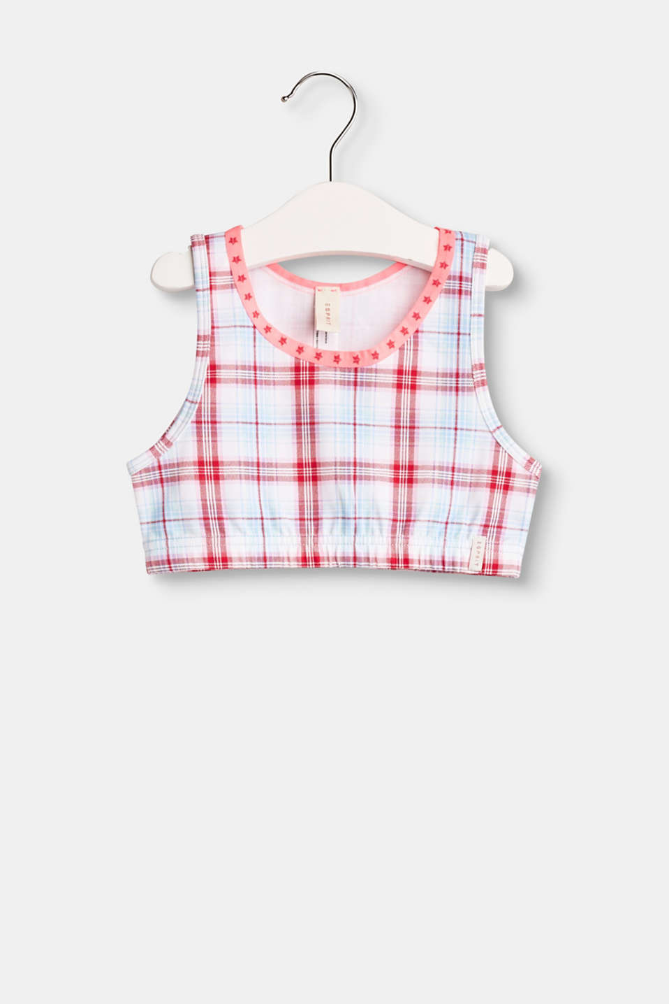 Esprit - Checked crop top