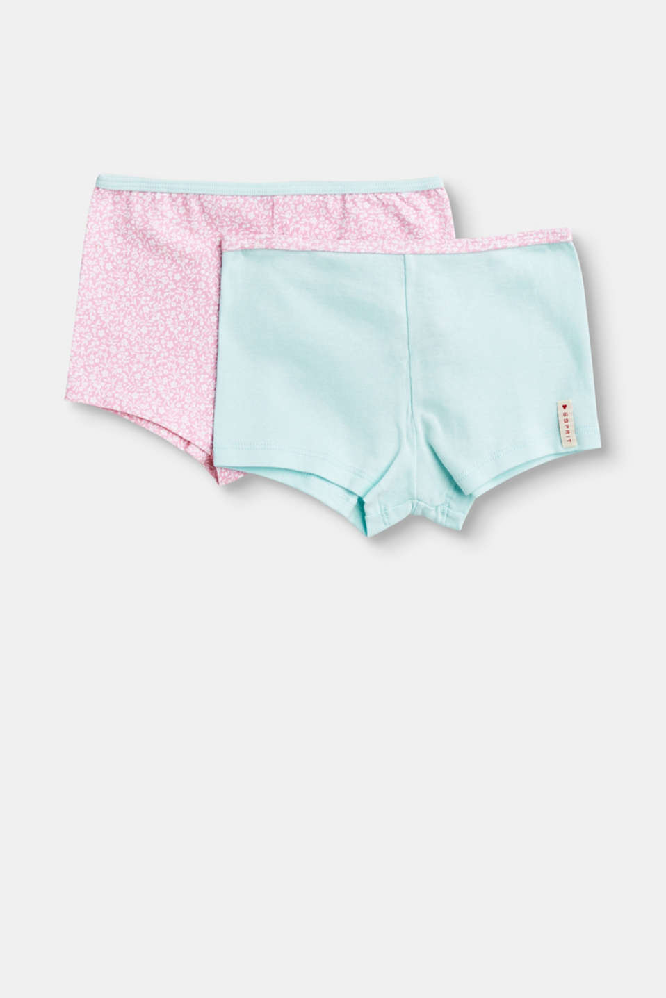 Esprit - Double pack of stretch cotton hot pants