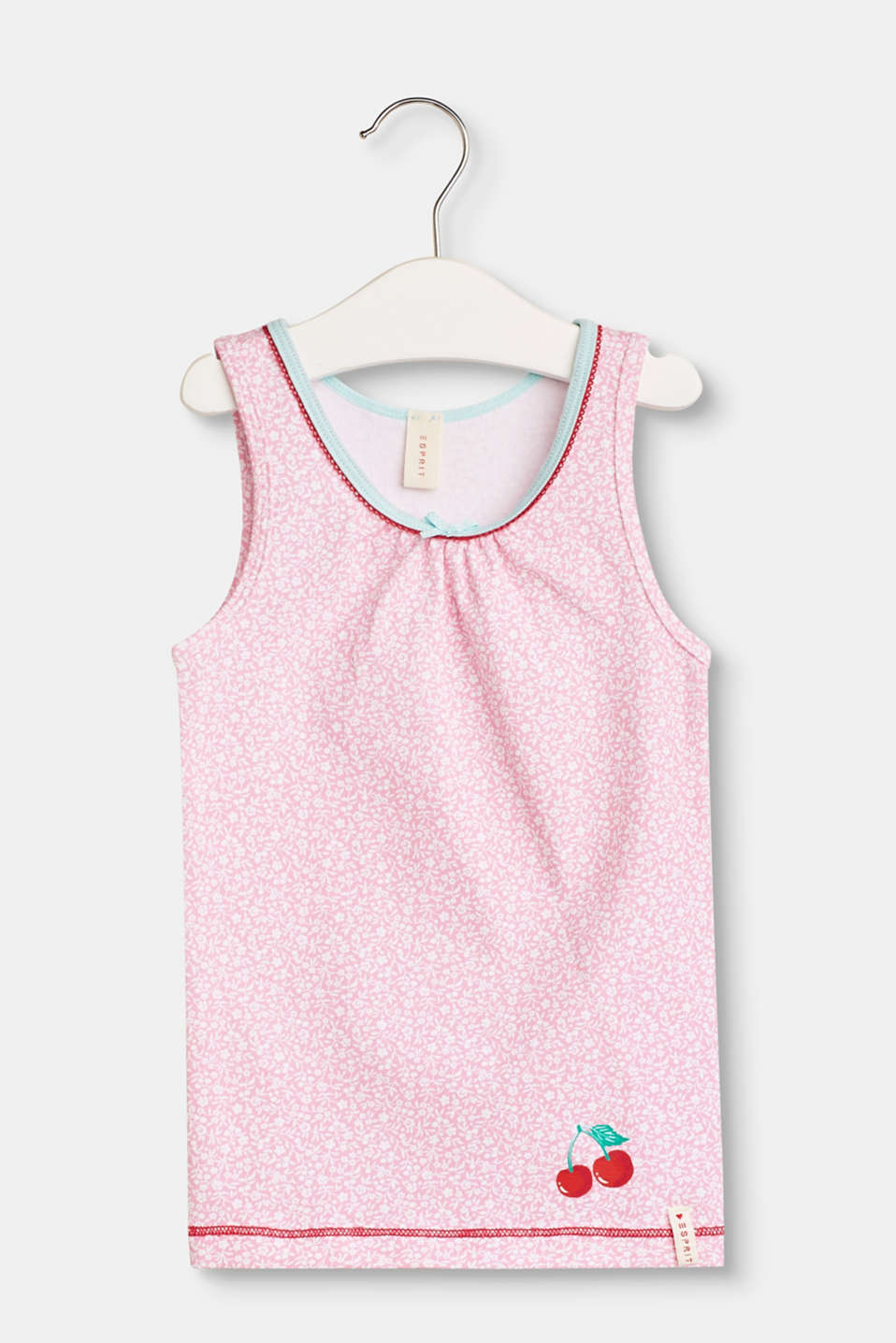 Esprit - Basic jersey top with a floral print
