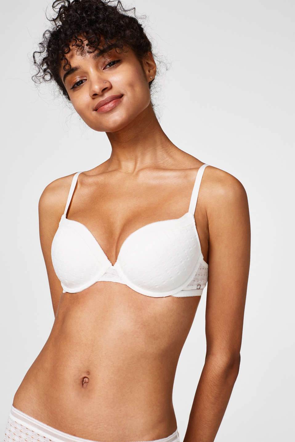 Esprit - NYE padded non-wired push-up bra in lace