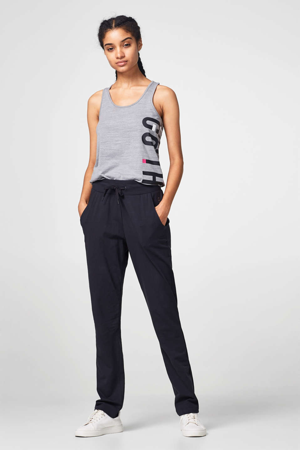 Esprit - Casual stretch jersey trackies