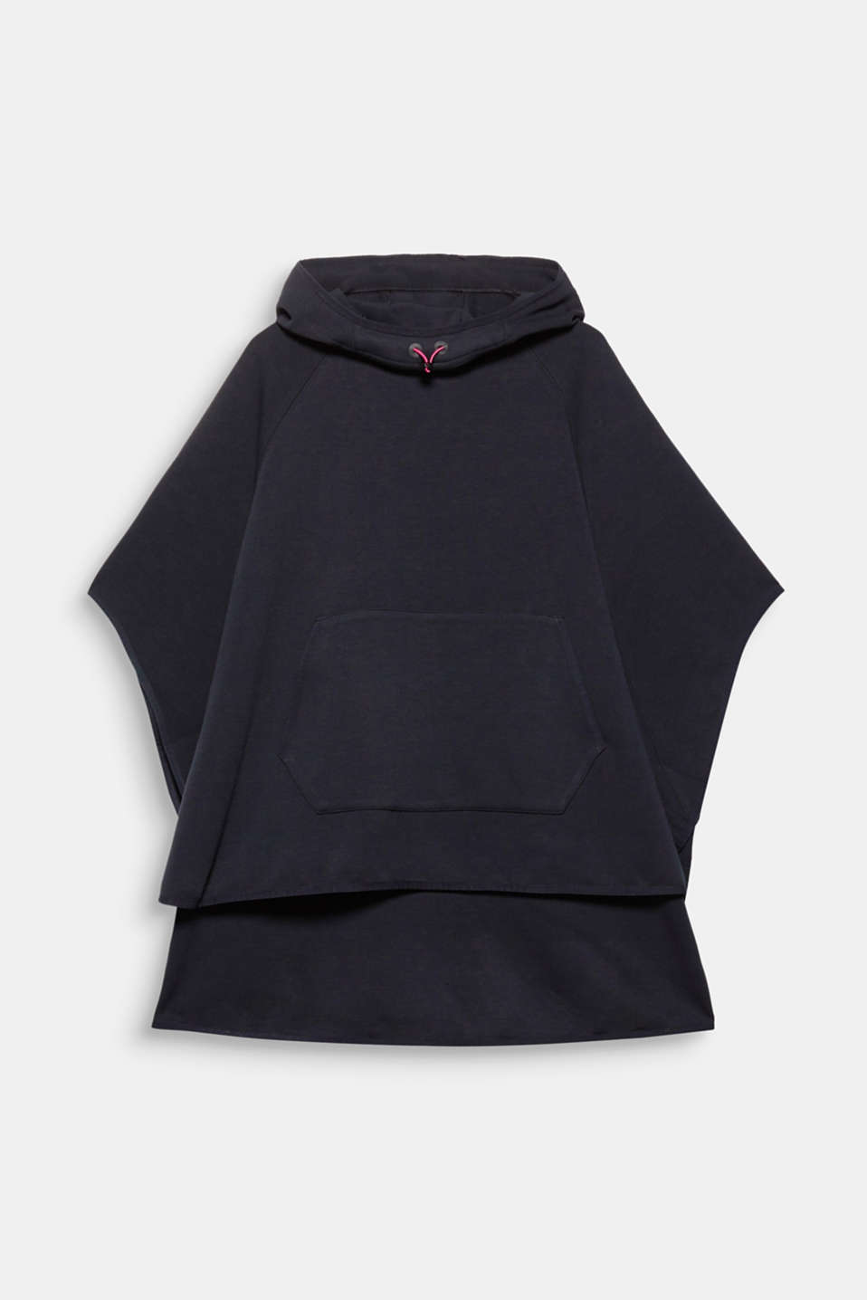 A stylish alternative to a cardigan: This hooded cape in stretch jersey is particularly casual and comfortable!