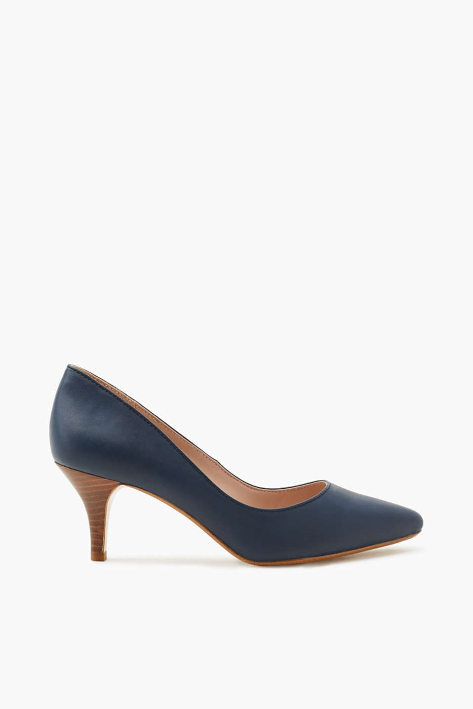 Esprit - Pumps met hak met houtlook
