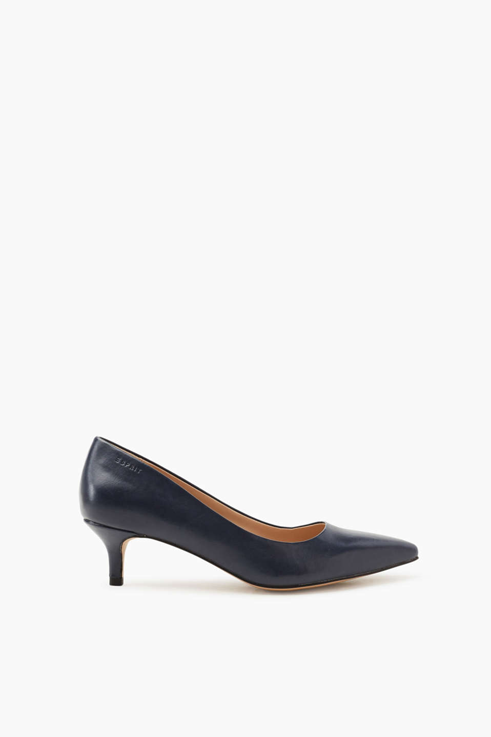 Esprit Slingback-Pumps in glatter Leder-Optik für Damen, Größe 41, Navy