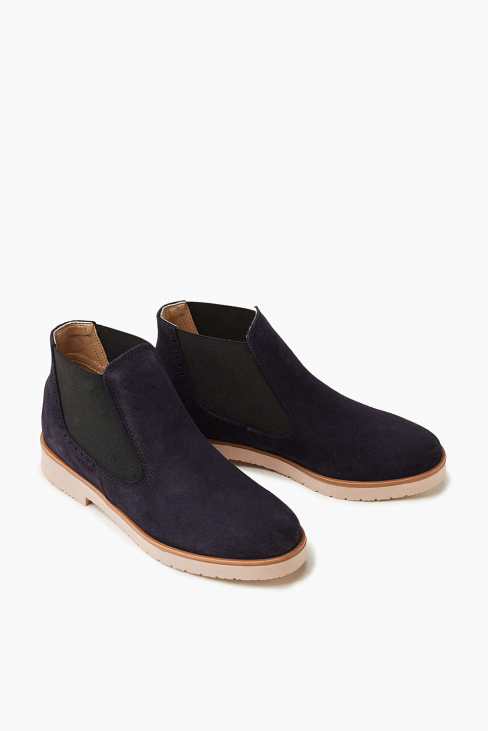 Chelseaboot aus softem Veloursleder