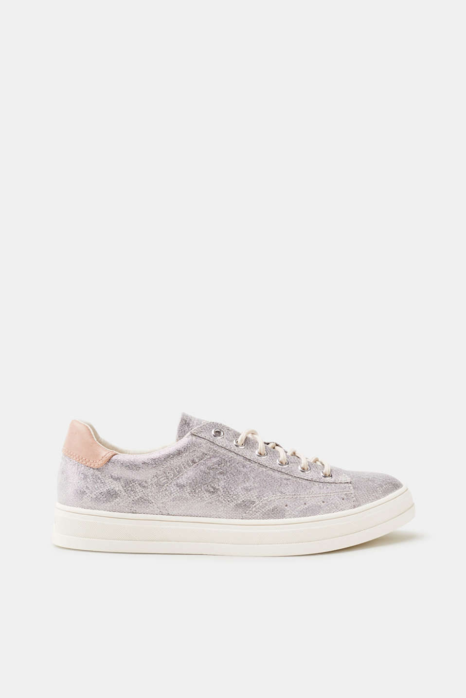 Esprit - Trendy trainers in a cool metallic finish