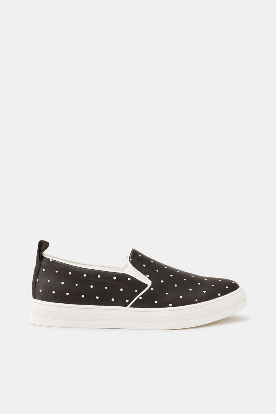 Esprit - Slip-on trainers with a minimalist print