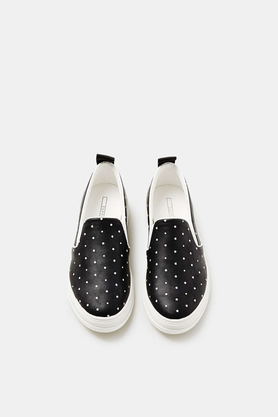 Slip-on trainers with a minimalist print