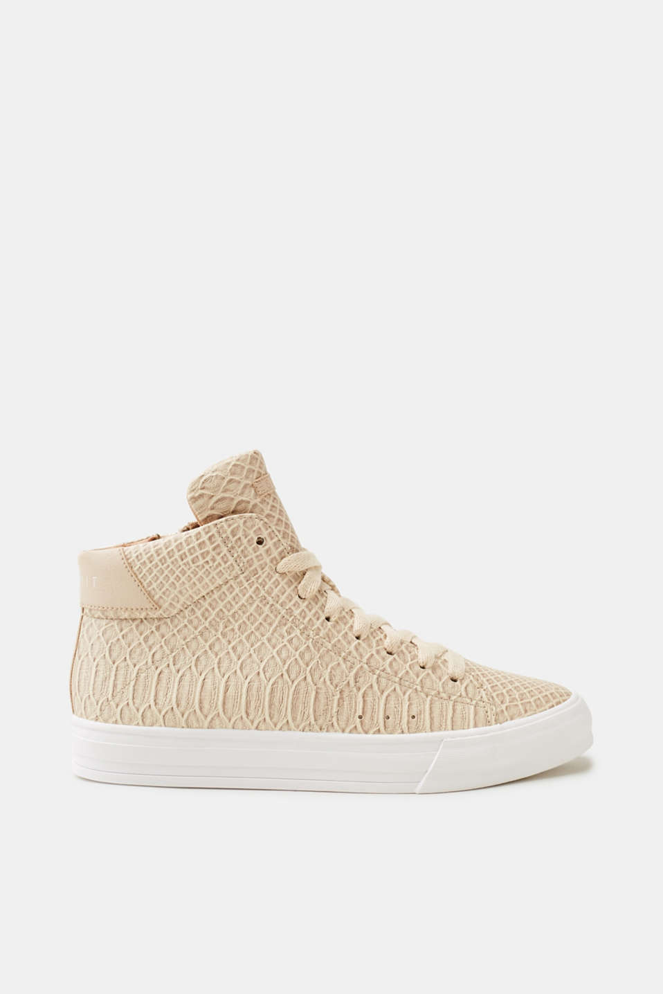Esprit - High-top trainers with reptile embossing
