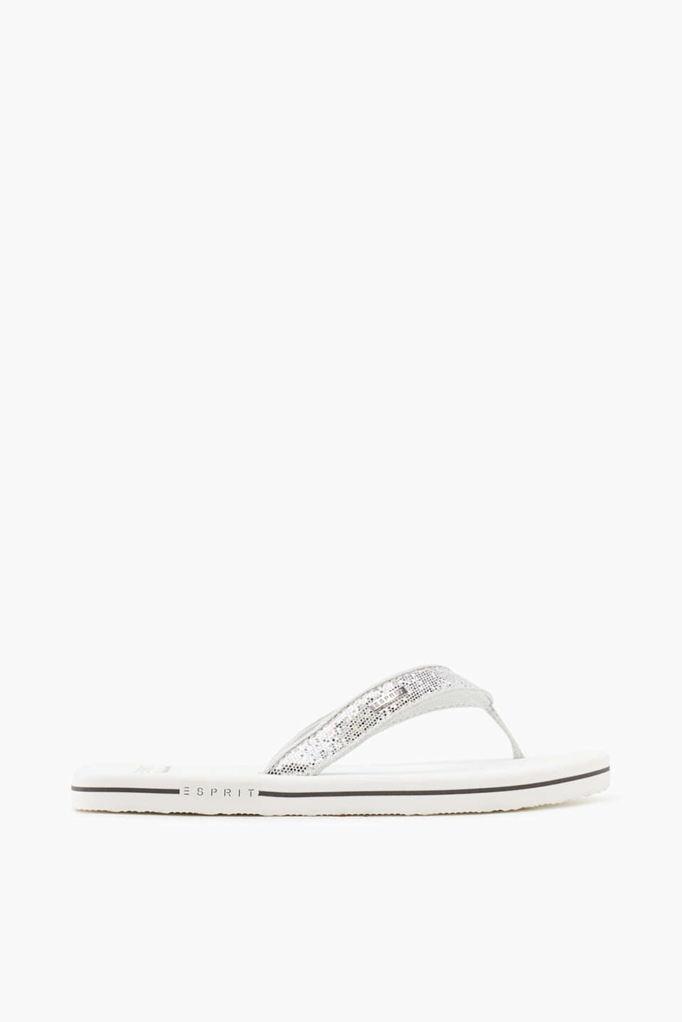 Esprit - Toe-post sandals with glittery straps
