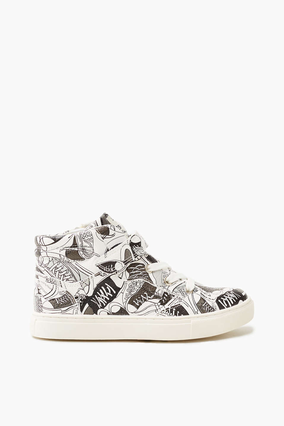 Esprit - High-top trainers with a comic print