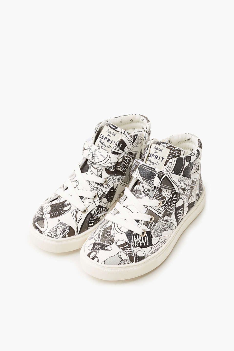 High-top trainers with a comic print