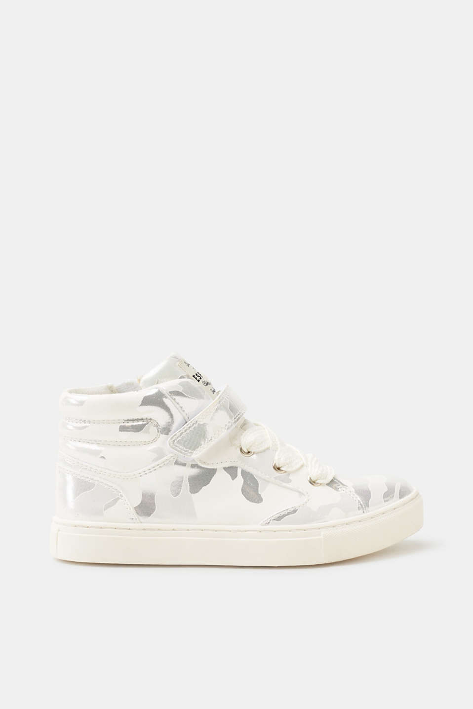 Esprit - Trainers in patterned faux leather