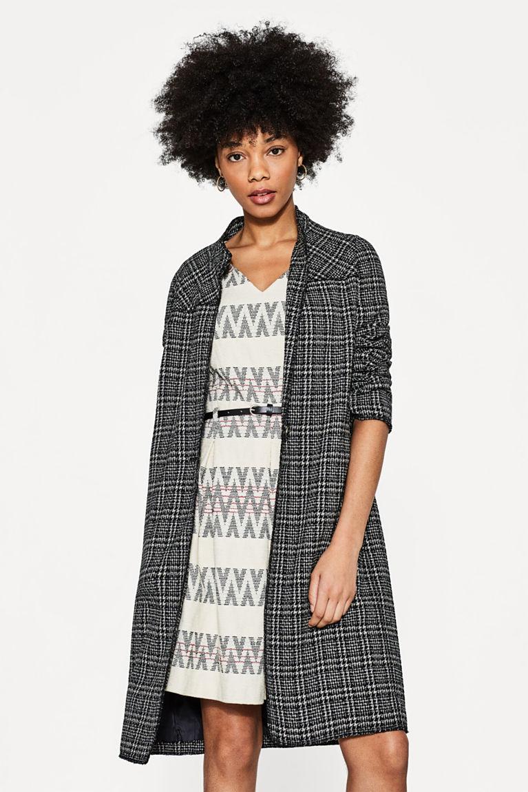 Jacquard-Kleid mit Zick-Zack-Muster