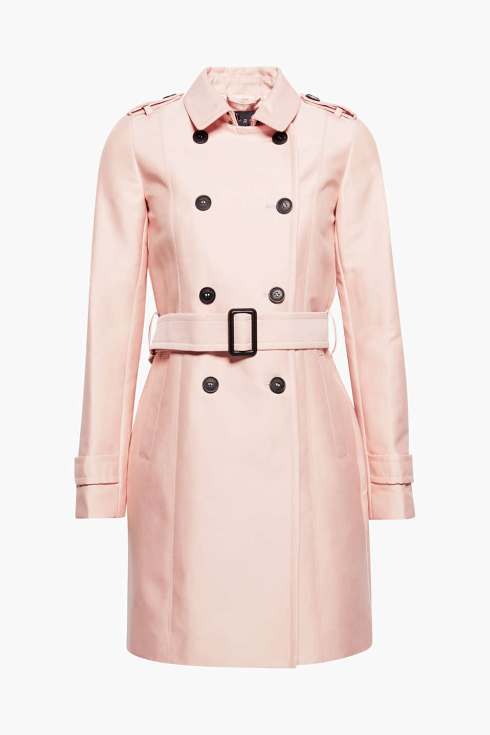 This double-breasted trench coat in a firm cotton blend with silky lining is an indispensable classic!