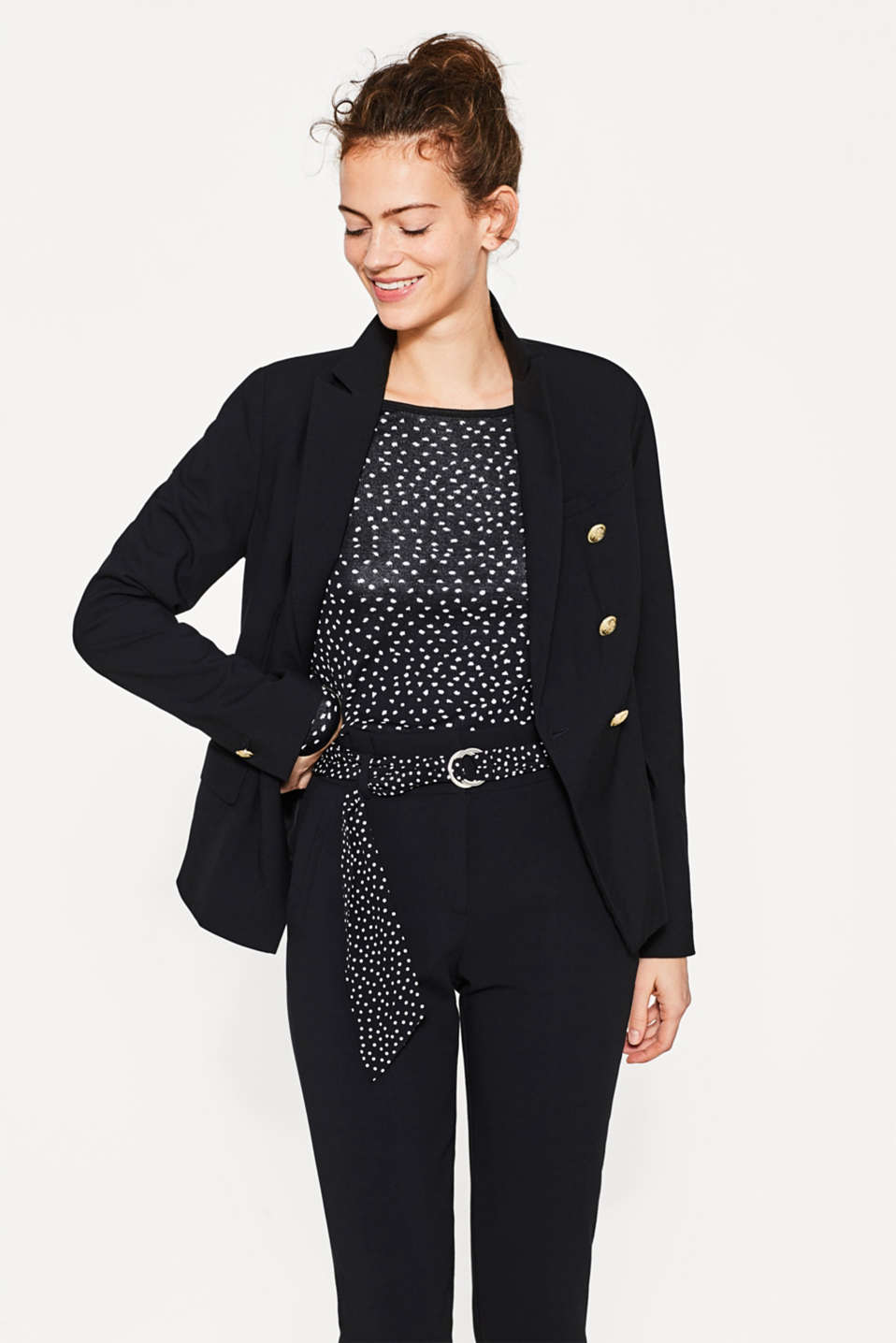 Jacquard jumper with a polka dot pattern