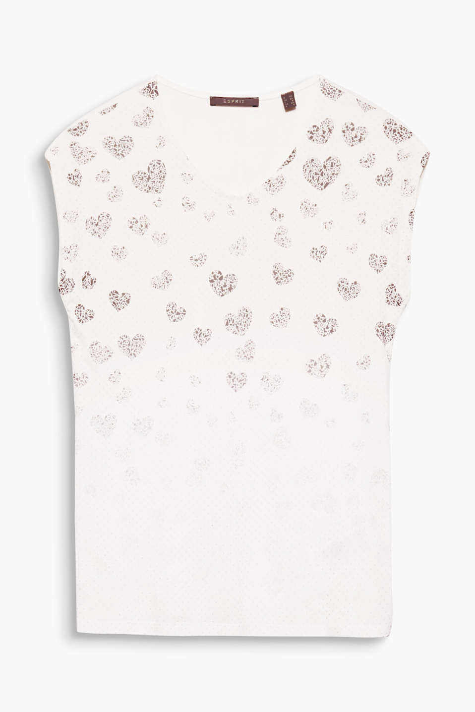 Glittering dots and a graduated-colour heart print give this T-shirt its pretty, sophisticated look!