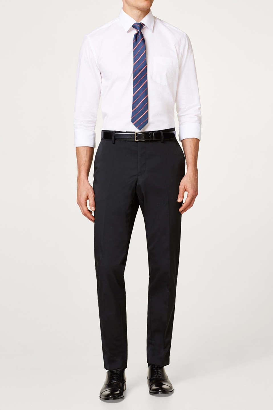Esprit - Suit trousers in stretchy twill
