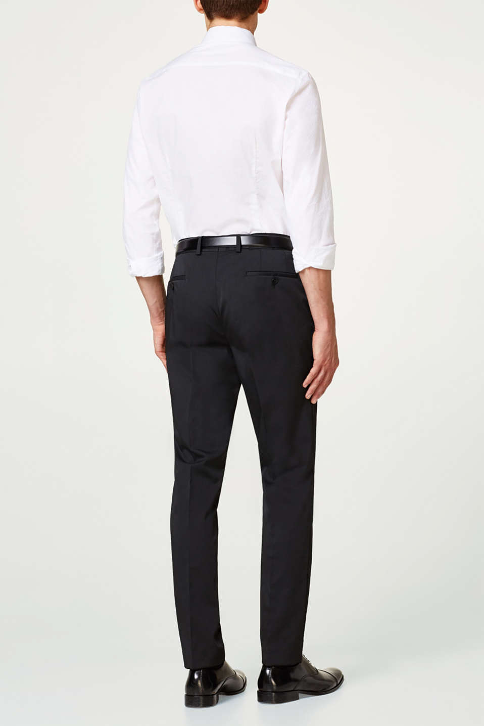 Suit trousers in stretchy twill