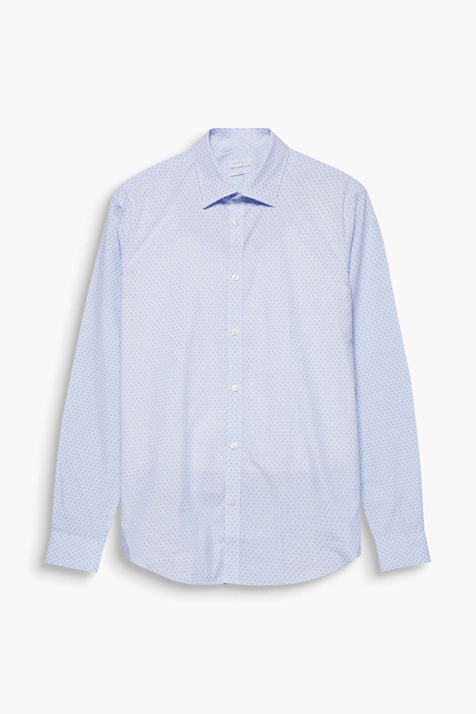 For your nuanced business look: this shirt with mini-check and tonal minimalist print, 100% cotton.