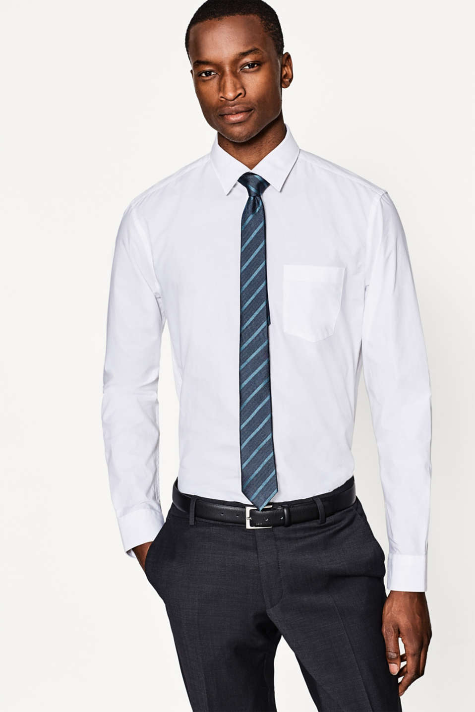 Esprit - Easy-iron cotton shirt