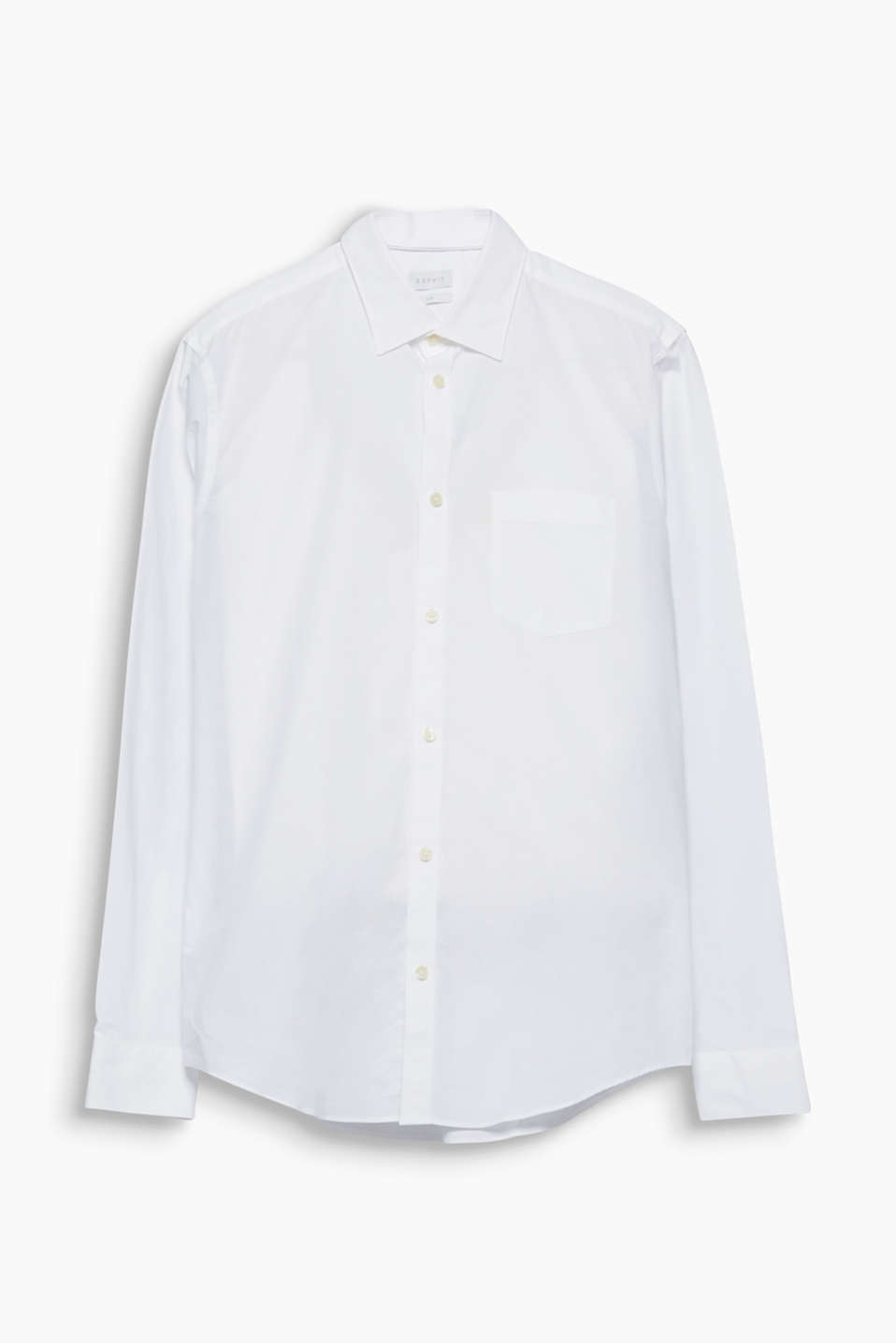 Suit up! The timeless design and the easy-iron cotton fil à fil fabric make this shirt a highlight.