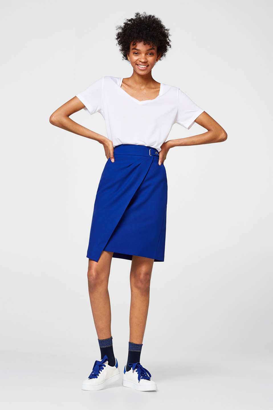 Pencil skirt with a wrap-over effect