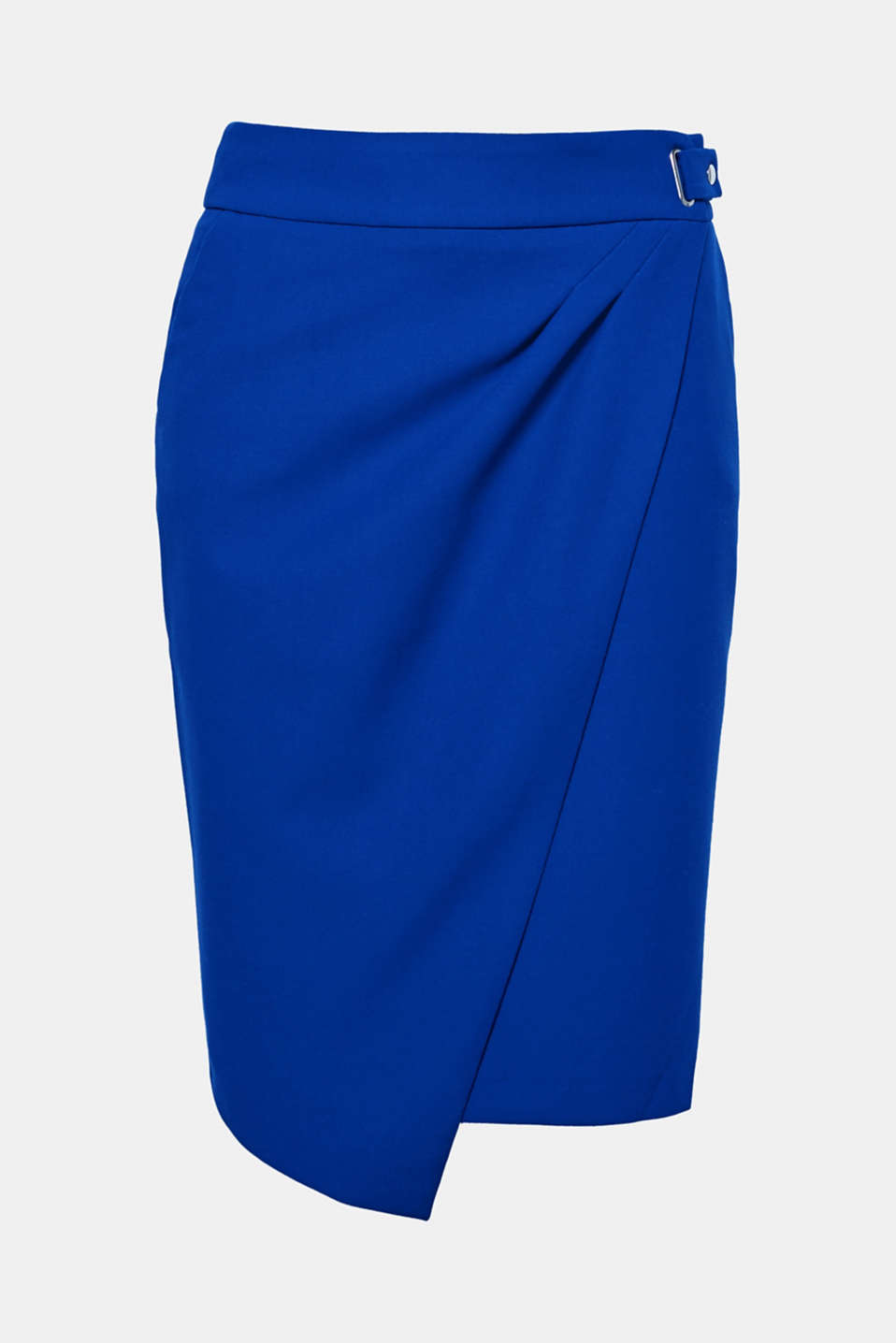 So easy, so sophisticated: This knee-length skirt wows with a sophisticated wrap-over effect.